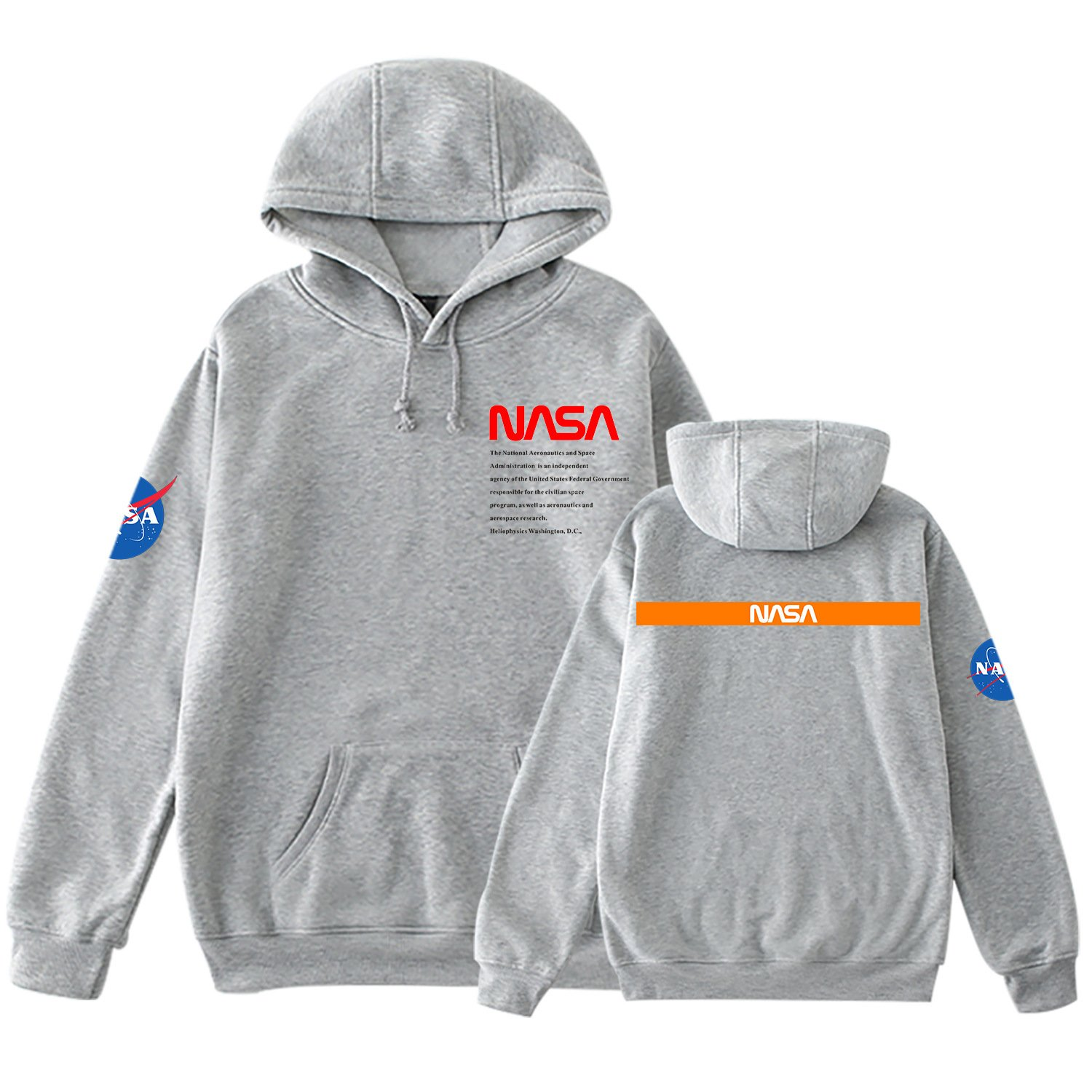 Nasa Hoodies Men Nasa Hooded Pullover