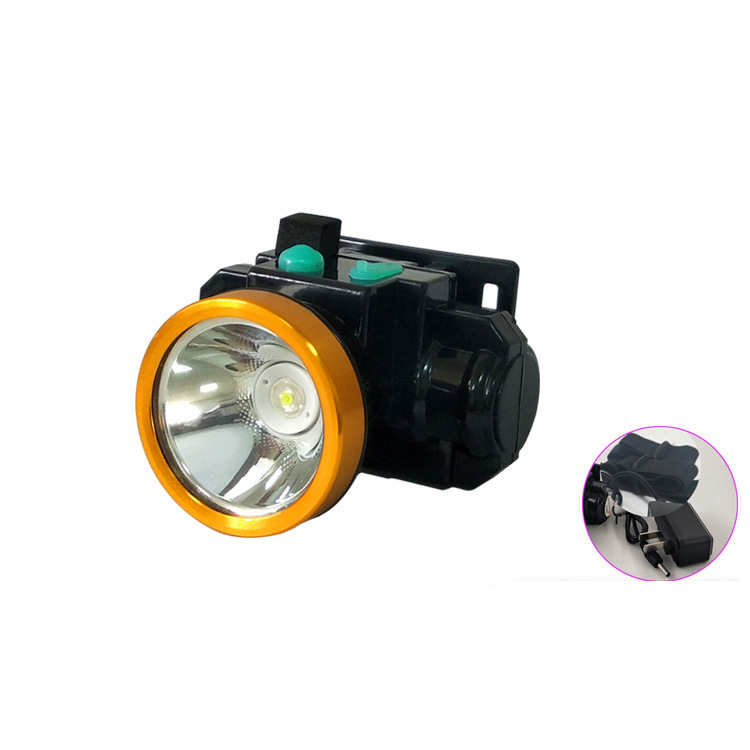 led headlamp Camping strong light rechargeable 18650 li-ion battery head lamp portable small flashlight outdoor rain proof tourism mountaineering climb riding fishing lithium cell lighting