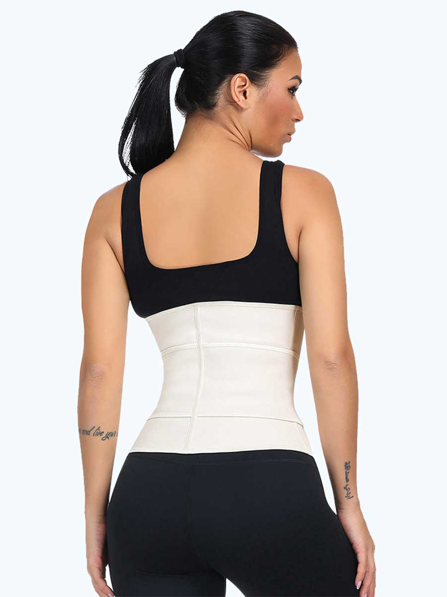 okiwilldo Latex Zipper Hook Waist Shaper