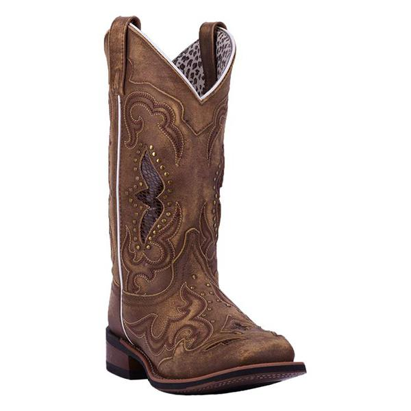 Mokoshoes Ladies Embroidered Hollow Rivet Short Western Boots
