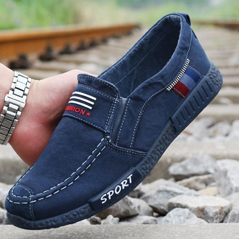 Men's Old Beijing Canvas Soft Bottom Flat Shoes