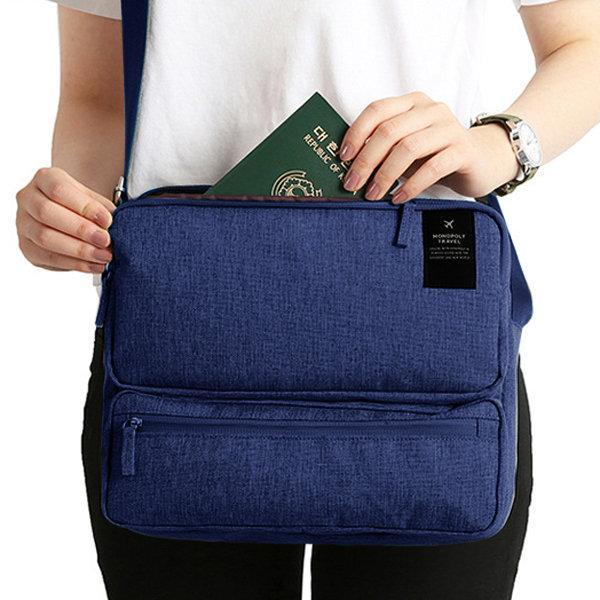 Women Men Unisex Multi Layers Travel Bags Large Capacity Shoulder Bag