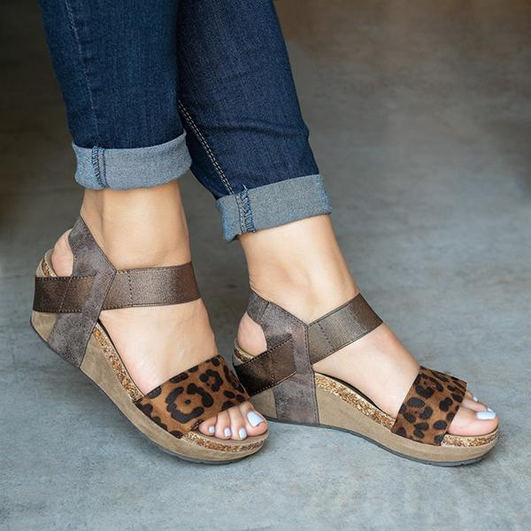 Faddishshoes Low Heel Wedge Sandals