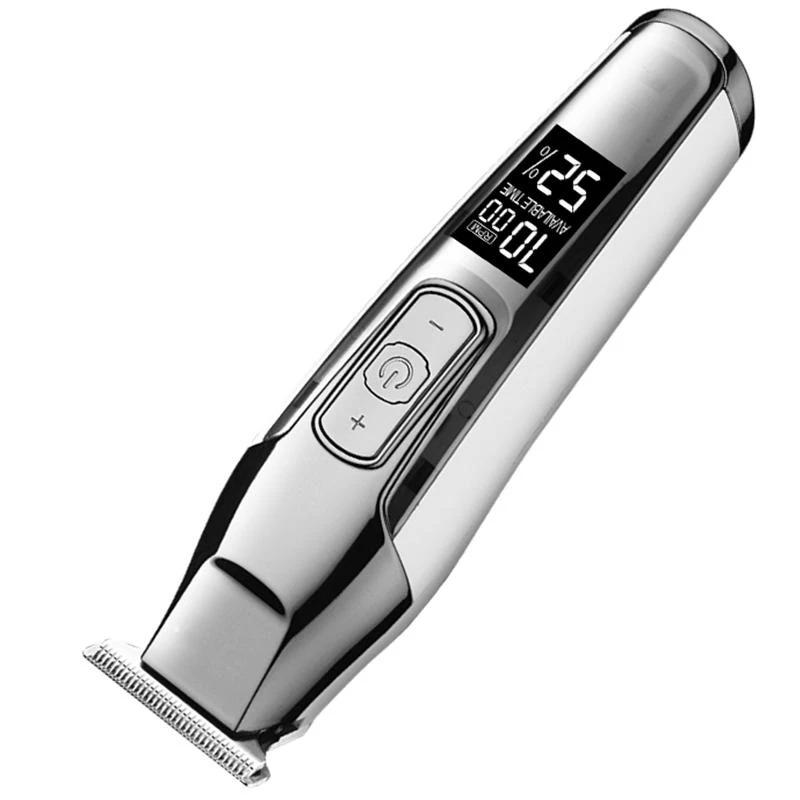 Pro Cordless Hair Clipper Beard Trimmer Electric Haircut Machine with LCD Digital Display