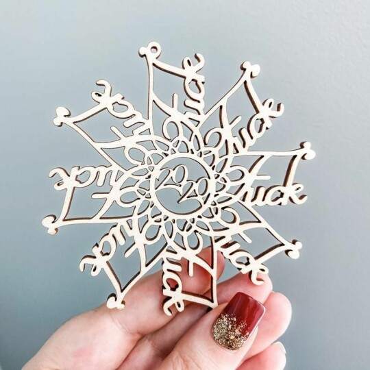 🌟Christmas Hot Sales🌟2020 Snowflake wooden Christmas decoration