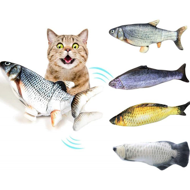 🐱3D Simulation Electric Fish Cat Toy 🐟