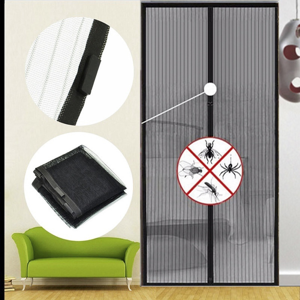 Summer Mesh Insect Fly Bug Mosquito Door Curtain Net Netting Screen Magnets Anti Mosquito Magic