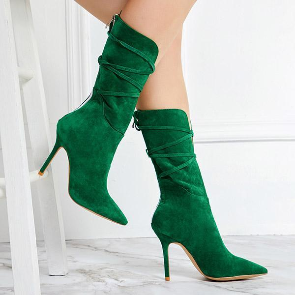 Upawear Lace-Up Stiletto Heel Boots