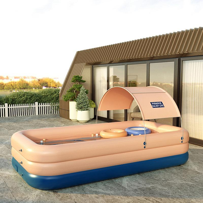Family Large Inflatable Swimming Pool With Shade Tent