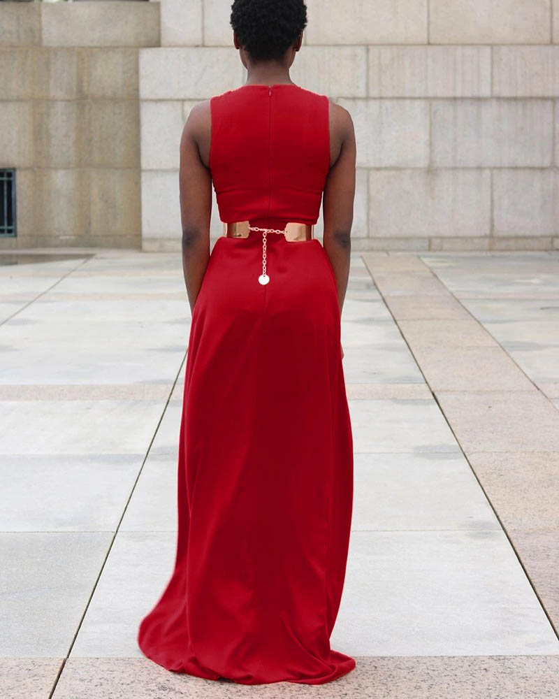 Fashion Red Personality Loose Jumpsuit