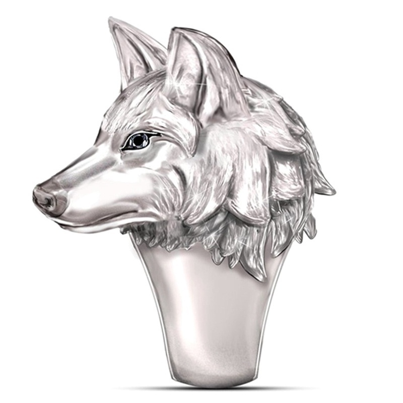 925 Sterling Silver 'Untamed Spirit' Exquisite Fashion Men'S Wolf Ring Stainless Steel Ring Party Banquet Ring Christmas Gift Anniversary Gift Size 6-13