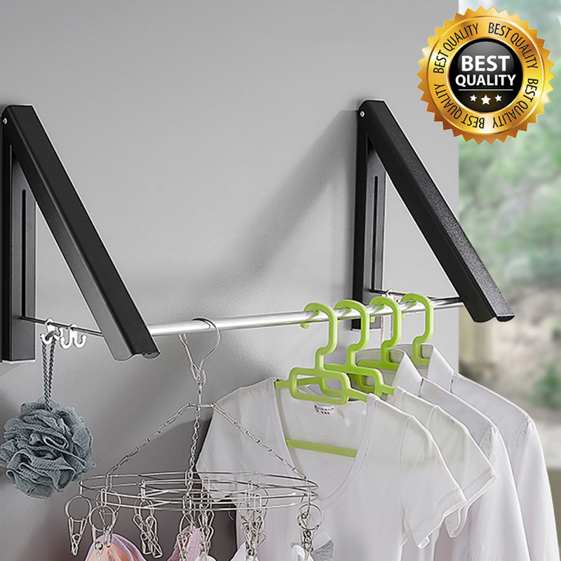 (Buy 2 Free Shipping)Never Rust - Collapsible Wall Mounted Drying Rack