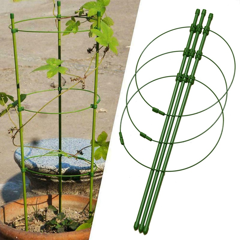 Climbing Plant Support Cage Garden Trellis Flowers Stand Rings Tomato Support