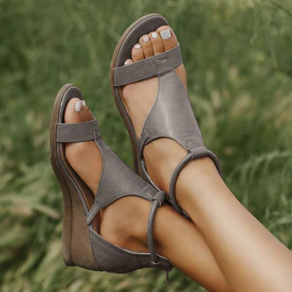 Trendymap Women Casual Daily Wedge Sandals