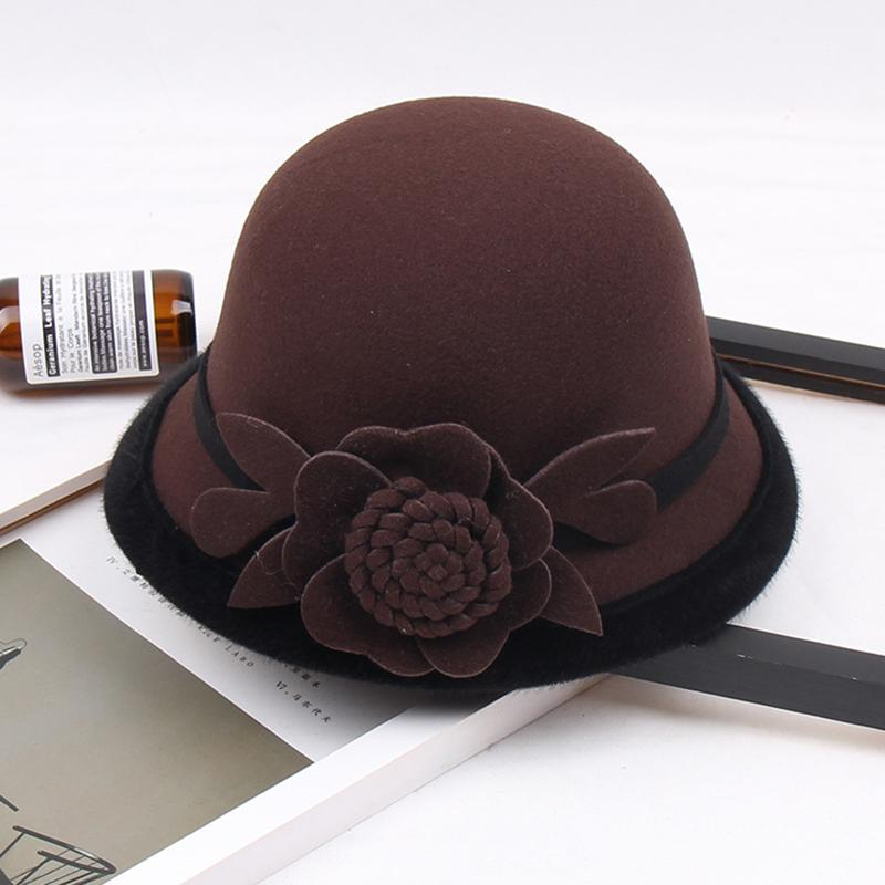 Three-dimensional flower hat for autumn and winter Ladies Korean Dome Casual Hat