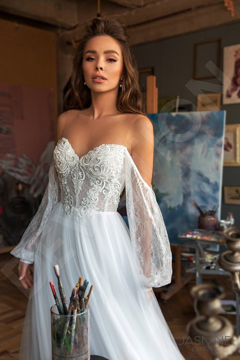 Lace Wedding Dresses 2020 New 715 White Lace Bodice Gown For Wedding Boho Lace Beaded Wedding Dresses Matron Of Honor Dresses Black Lace Evening Gown