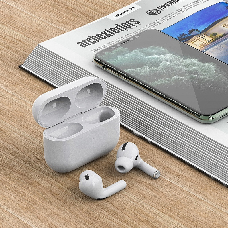 2020 New High Quality Airs Pro TWS Pop Up Wireless Earbuds Supply  Call / Listen To Music Wireless Charge Bluetooth Headphone 5.0 Touch Control Earbuds Automatic Noise Reduction Waterproof Sport Audifonos Bluetooth