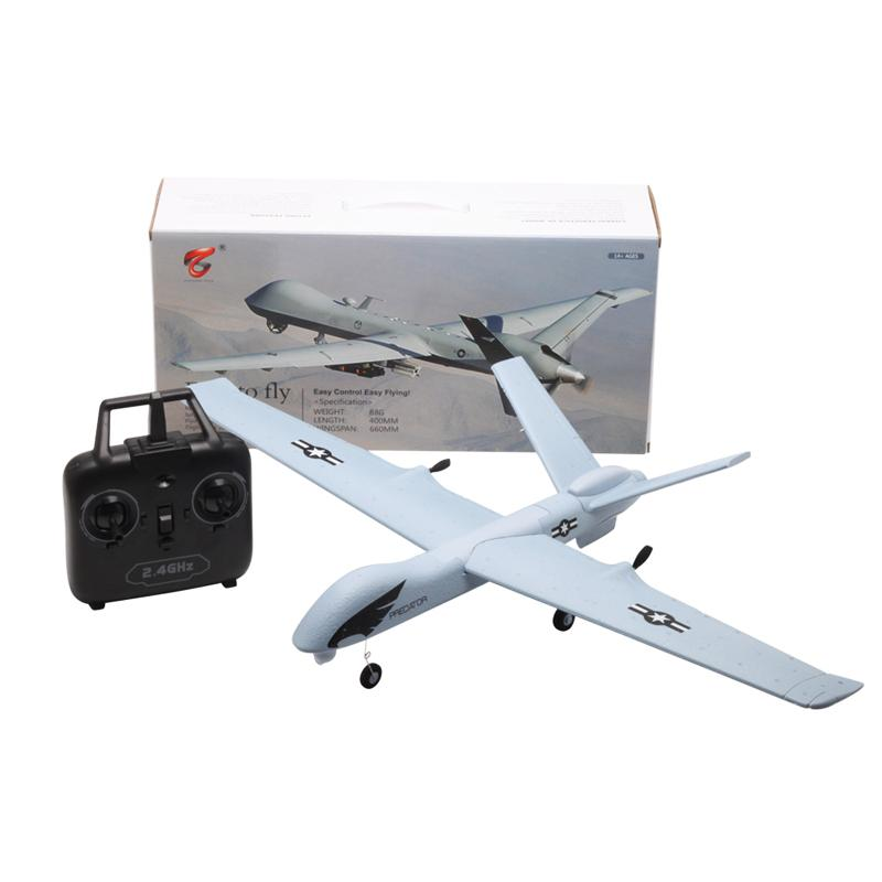 Z51 Predator 660mm Wingspan RC Airplane with LED Light, EPP Glider Remote Control Airplane