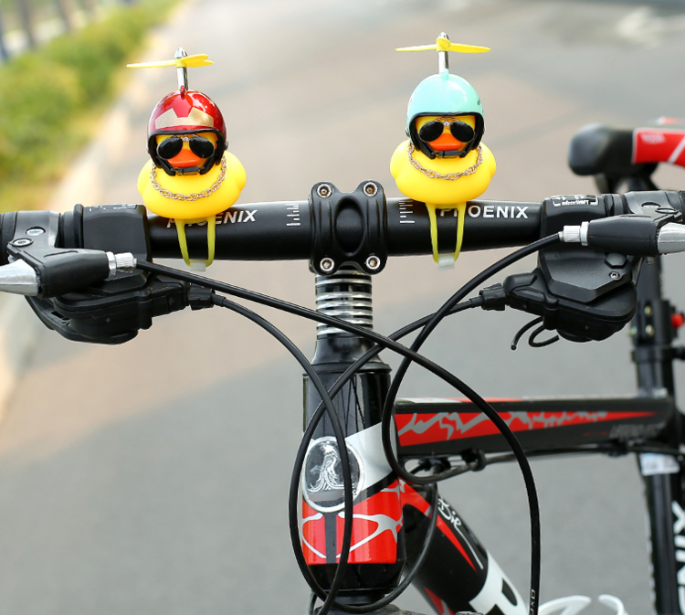 Helmet Duck Bicycle Horn Light