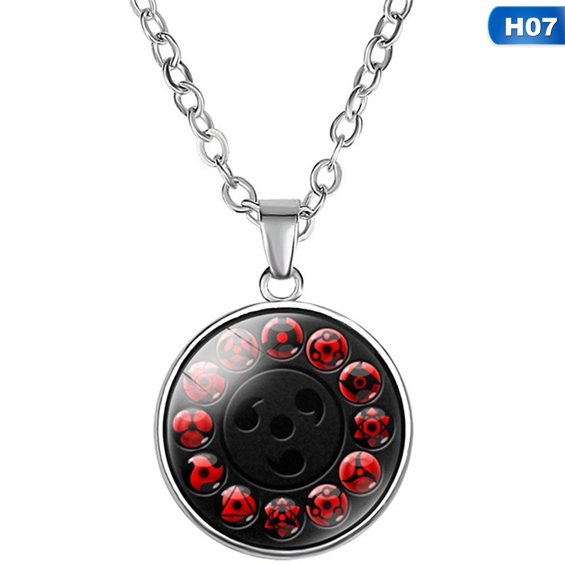 Japan Anime Naruto Sharingan Pendant Necklace Uzumaki Naruto