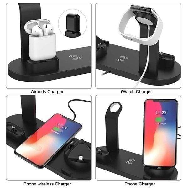 FDGAO 3 In 1 Portable Charger Stand Multi Function Usb Charger Charging Dock Station for Iphone 11 Pro Max Apple Watch Apple Airpods All Mobile Phone