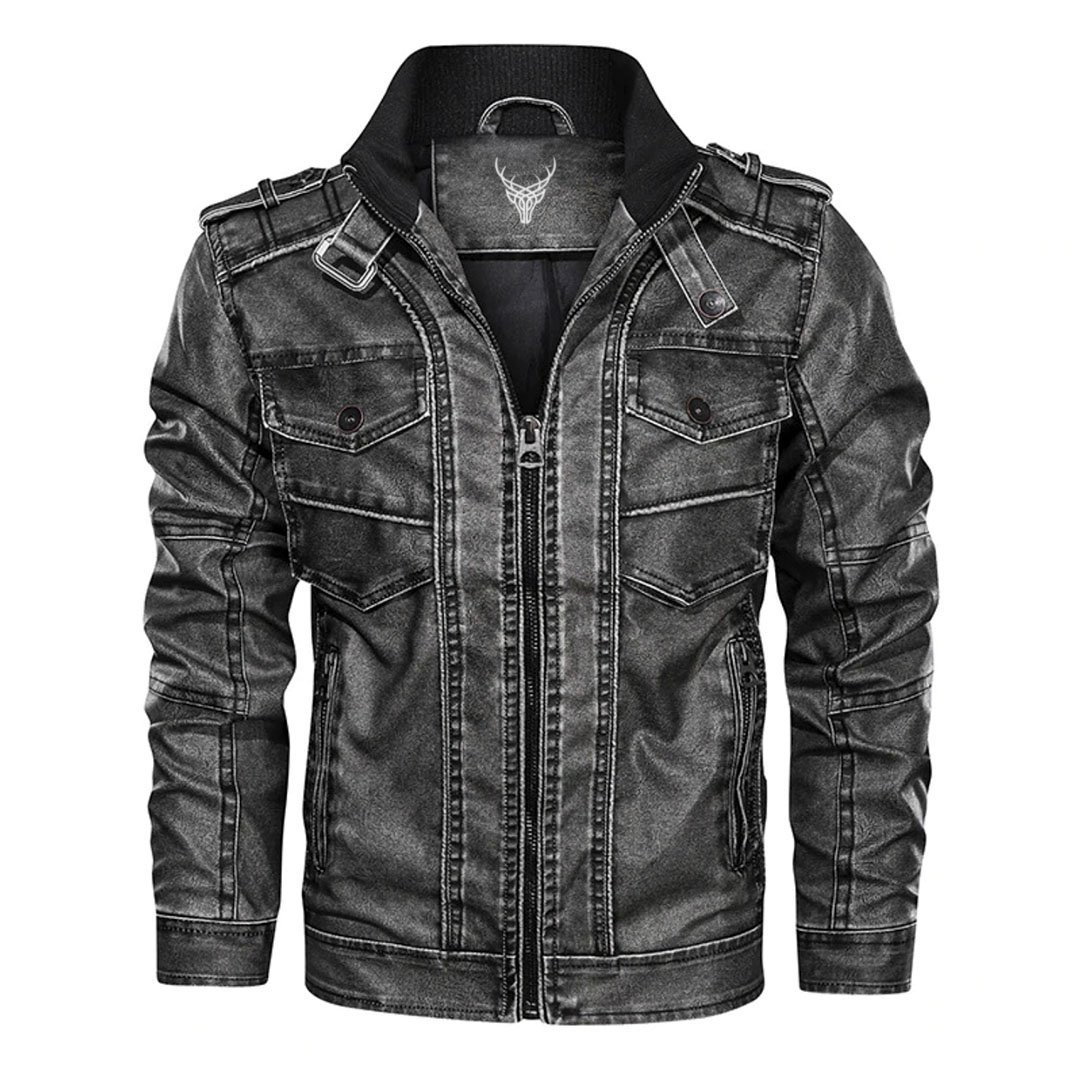 Outwear Dark Rider Leather Jacket
