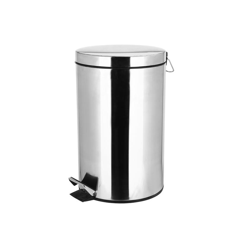 Stainless Steel Trash Can with  Inner Bucket,  Step Pedal Garbage Bin for Office and Kitchen  trash can-1.20
