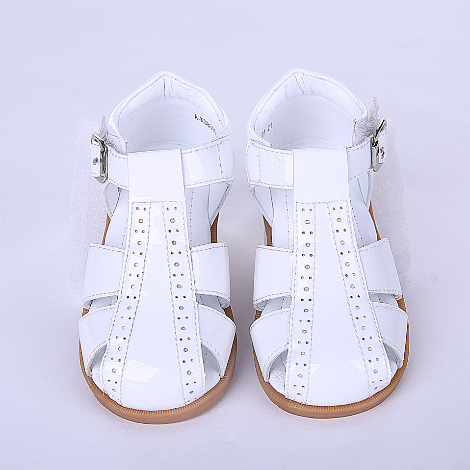 Leather Shoes Hollow Toddler Girl Dress Shoes Girls White Shoes