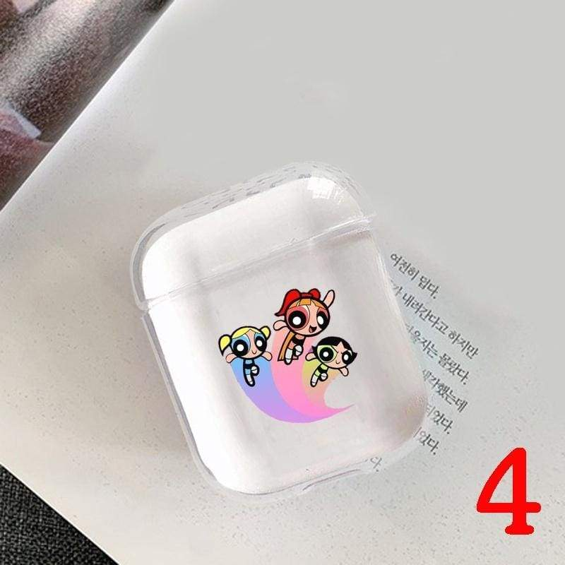 Cute Cartoon Earphone Earphone Transparent Case Cover For Apple Airpods( Only Transparent Airpods Case)