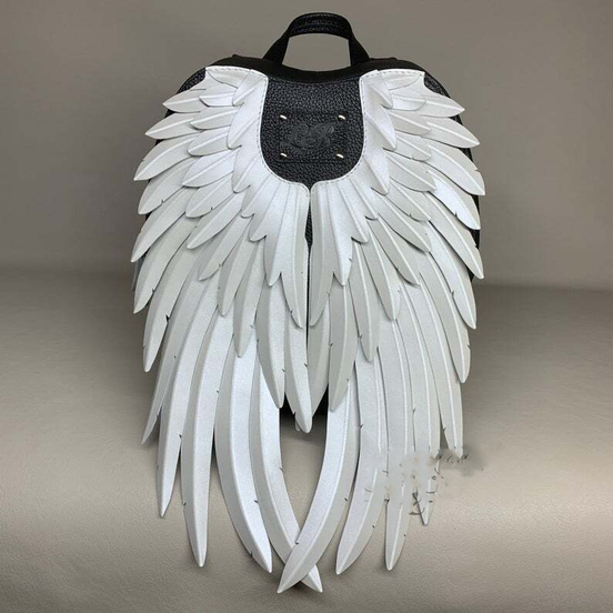 🔥Rainbow Leather Backpack with Angel Wings🔥(BUY 2 GET 16% OFF&FREE SHIPPING)