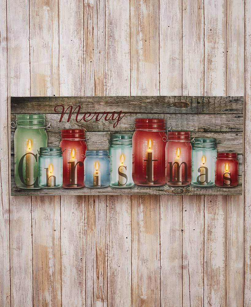 Oversized Lighted Canvas Wall Art