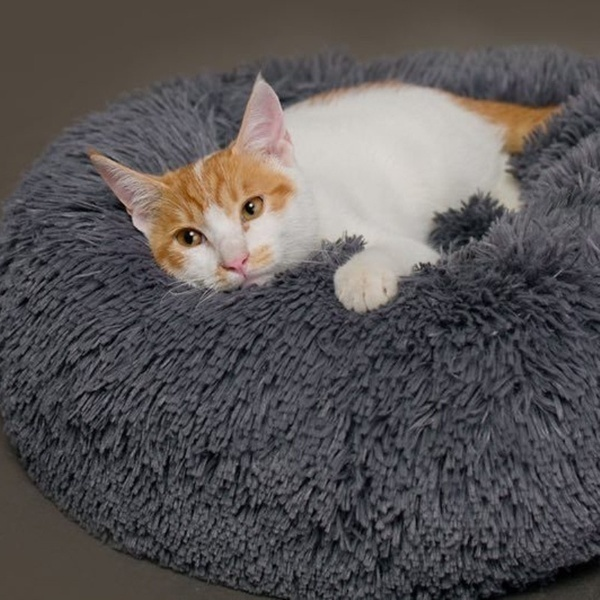 NEW Soft and Comfortable Pet Bed Autumn and Winter Warm Kennel Round Puppy Cat Cute House Pet Pad 50cm/60cm/70cm