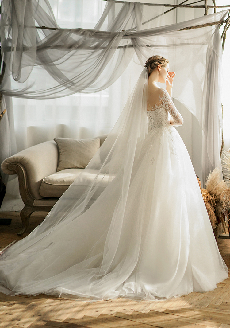2020 new style [Mengyu] Sen series super fairy dream one shoulder light wedding dress