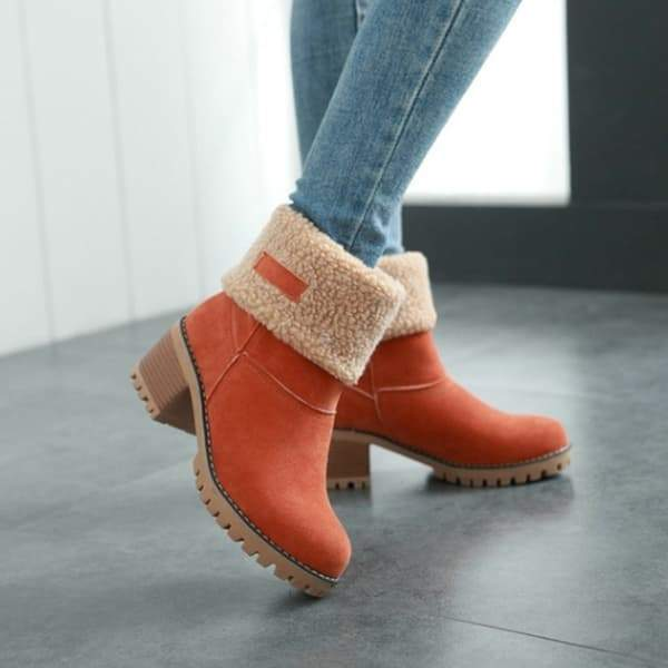 Zoeyootd Winter Shoes Fur Warm Snow Boot