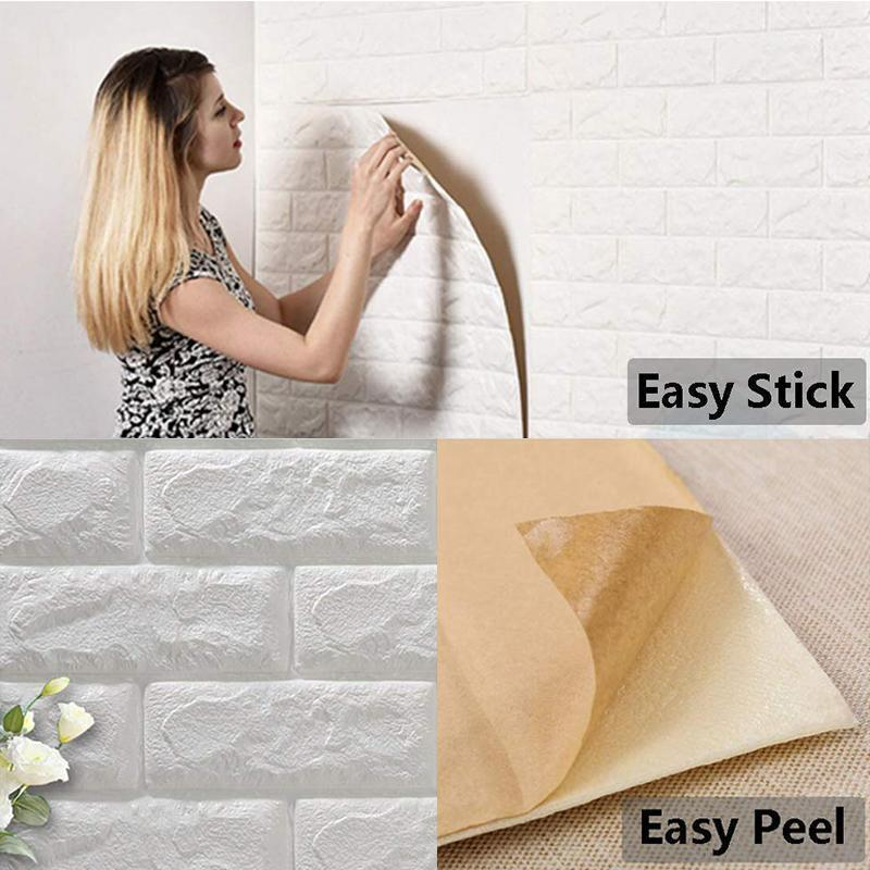 3D Wall Panels Peel and Stick Wallpaper -77×70cm