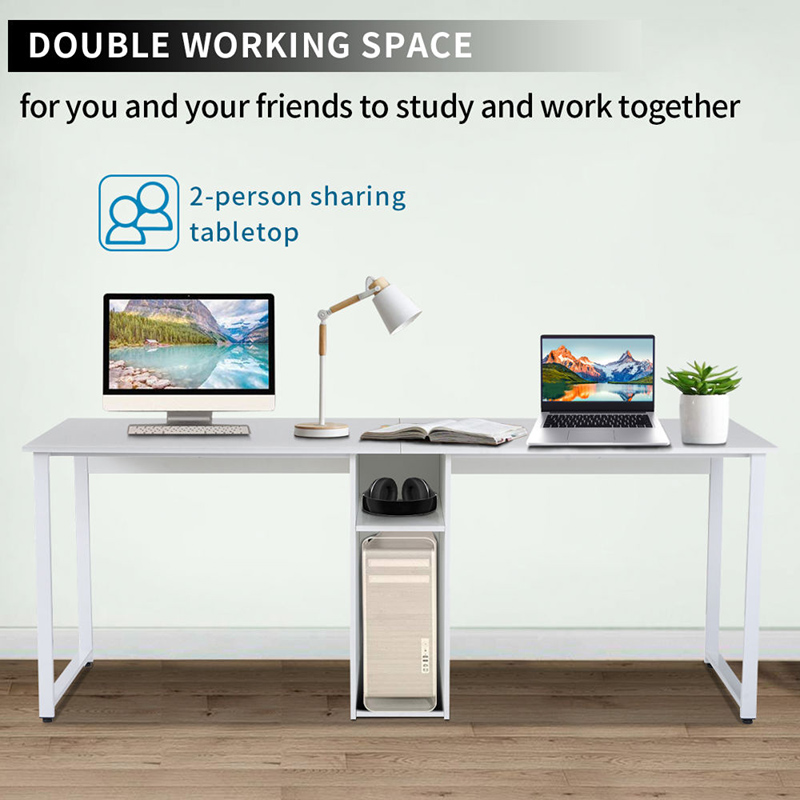 Buyonhome Home Office 2-Person Desk Large Double Workstation Desk