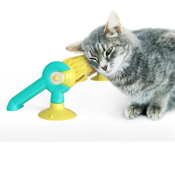 360 ° cat tunnel turntable toy with removal brush