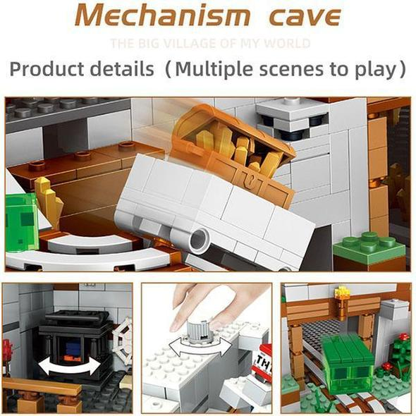 Minecraft The Mountain Cave Building Kit