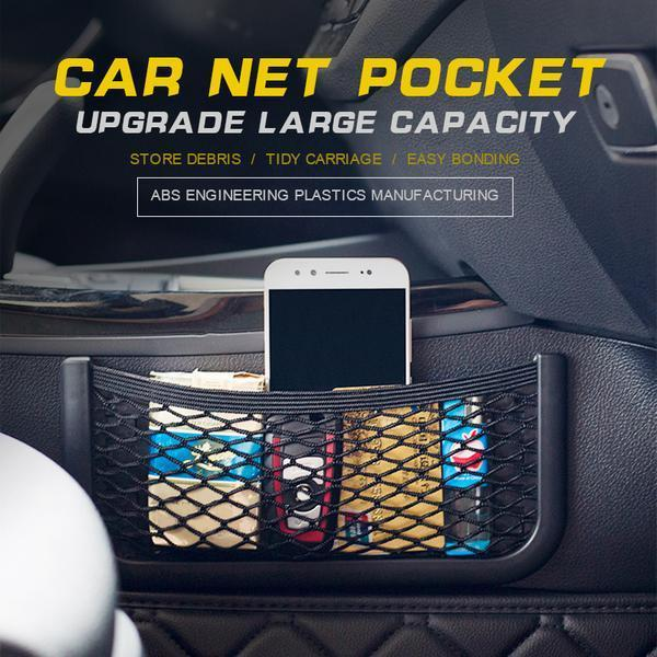 Car Small Storage Net Pocket Mobile Phone Bag