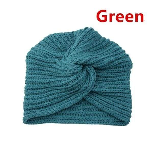 Fashion Autumn Winter Hat For Women Knot Bandanas Turban Headband Warm Knit Headband Cap Solid Center Hair Scarfs