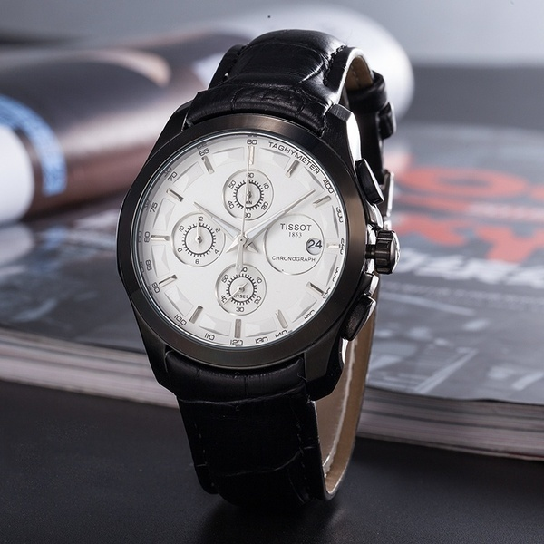 New Tissot Date Quartz Watch Luxury Men's Wrist Watch Waterproof Business