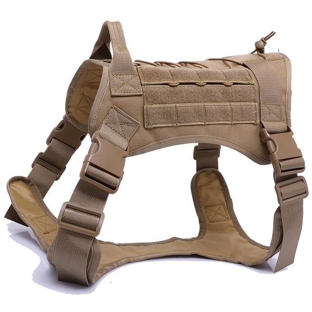 NEW TACTICAL DOG HARNESS-Choke Dog Harness Service Vest With Top Handle
