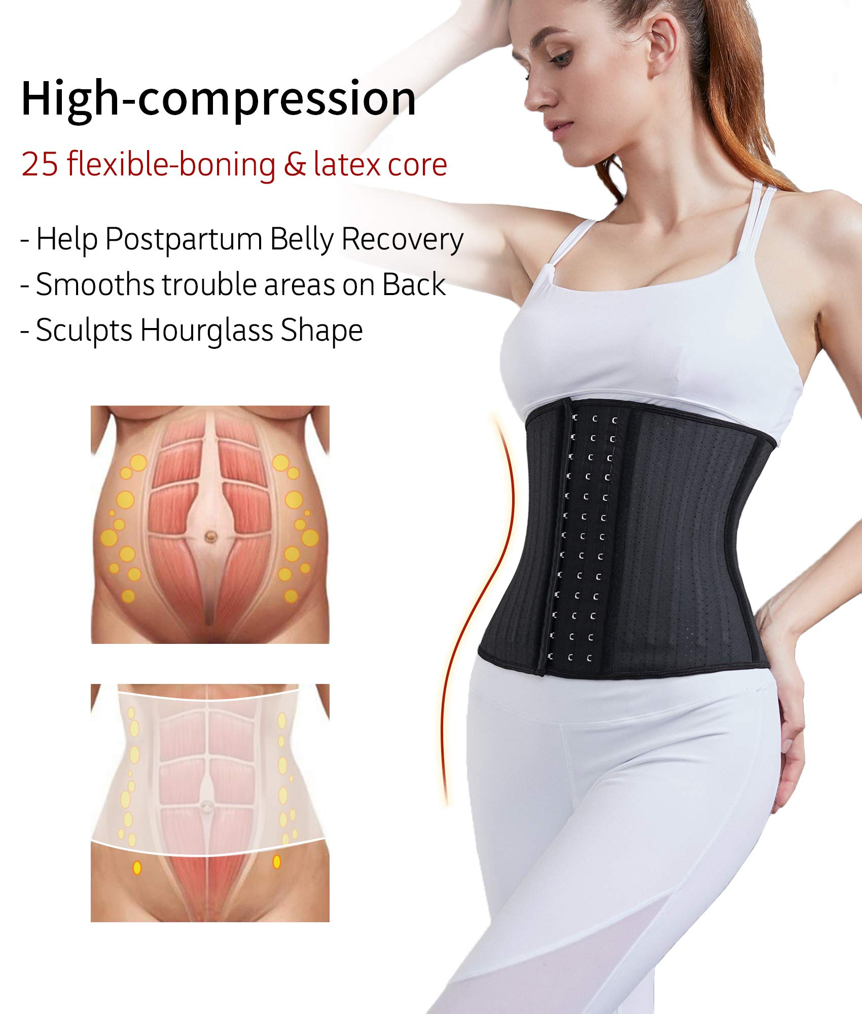 (70% OFF-HOT SALE)Women's Underbust Latex Sport Girdle Waist Trainer Corsets-BUY 2 Free Shipping