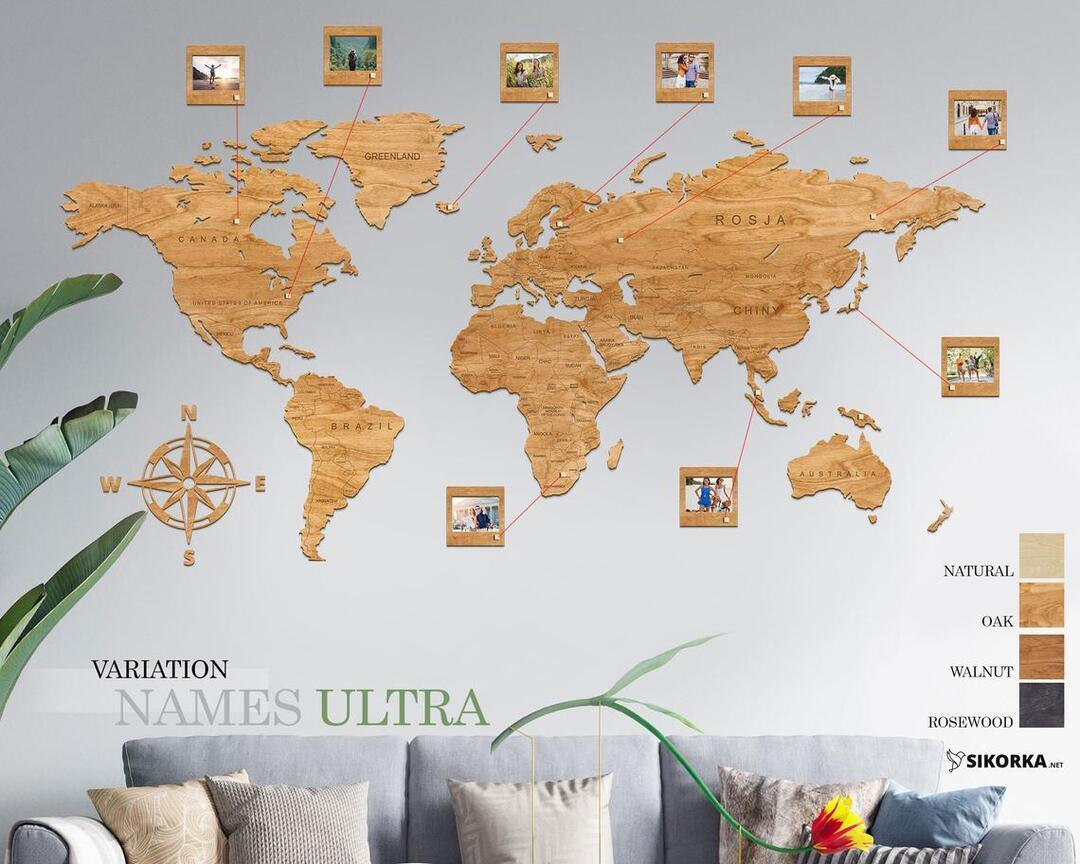 Wooden Wall Map | Wooden Map of the World | Home Decor| Christmas Gift| Wall TravelWorld Map
