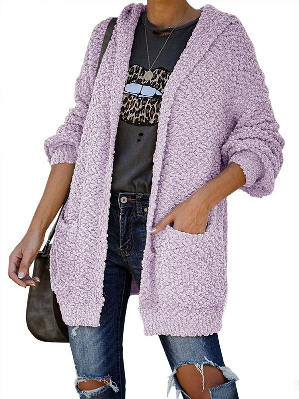 Bonnieshoes Comfy Soft Hooded Knitted Jacket