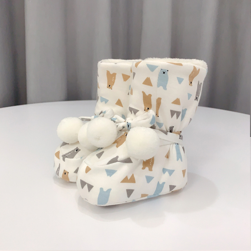 🎅40% off Christmas sale🧦(Buy 2 Free Shipping)-Luvable Friends Unisex Baby Cozy Fleece Booties