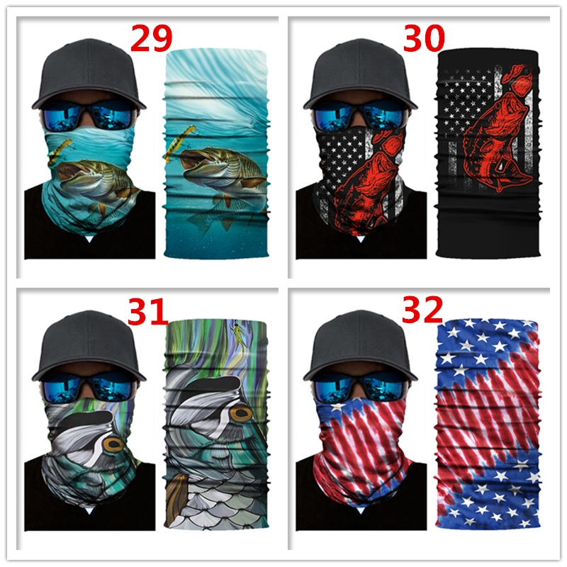 Fishing Sunscreen protection fish scarf thermal outdoor bicycle mask cover Bike Motorcycle Neck Face Mask Helmet Headband Magic Scarf
