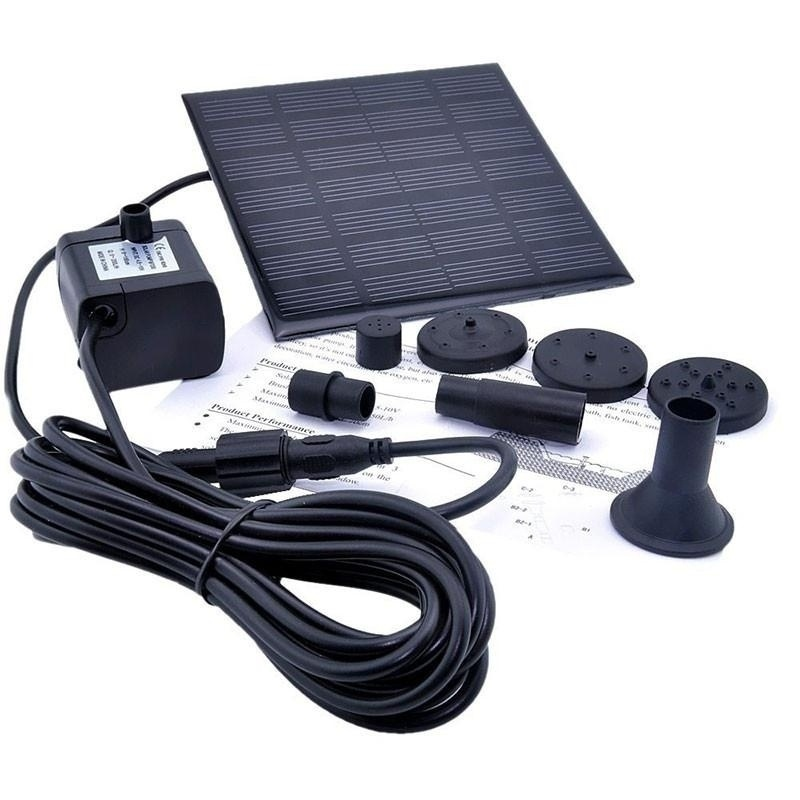 Update 1.2 Watt Best Black Solar Power Water Pump Garden Fountain Submersible Pump Family Essentials