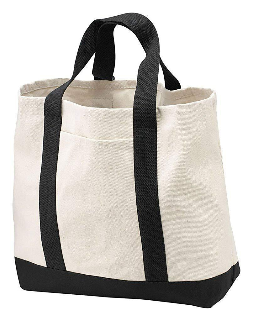 Canvas Bottom Shopping Tote