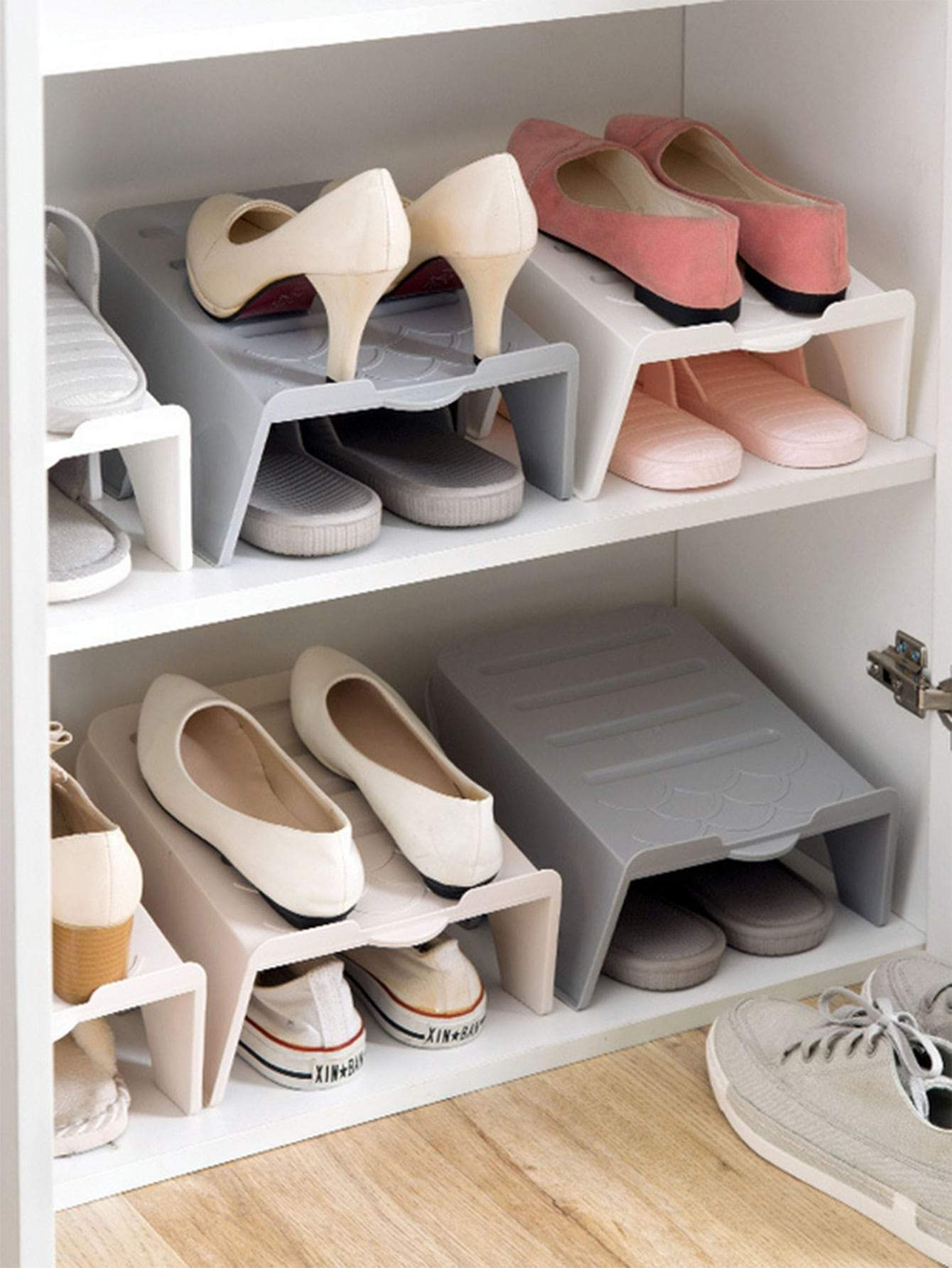 Double Layer Storage 2 Pair Shoe Stand Rack 1pc
